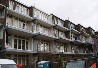 Balkons geplaatst